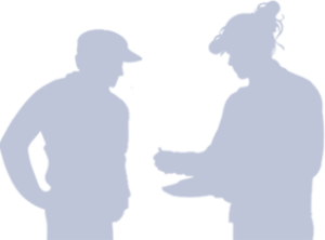 Two shadows outlining people