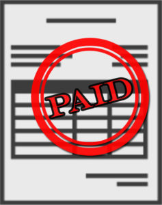 An invoice marked PAID
