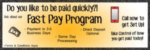 Fast Pay Program banner